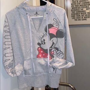 Size M gray Disney Minnie hoodie